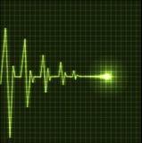 Cardiogramme abstrait de battements de coeur Images libres de droits
