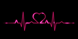 Cardiogramme de l'amour Images libres de droits