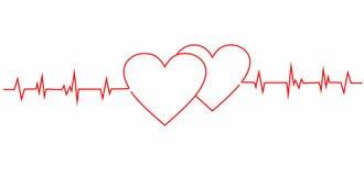 Cardiogramme des coeurs Photos stock