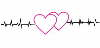 Cardiogramme des coeurs Photographie stock libre de droits