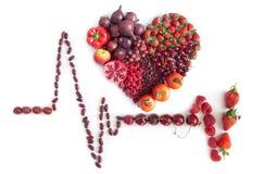 Cardiogramme fait à partir de la nourriture Photo stock