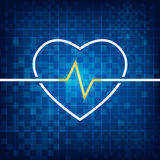 Cardiograph καρδιών Στοκ Εικόνες