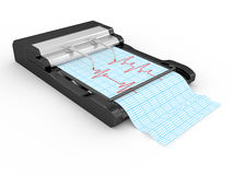 The cardiograph with the cardiogramme Stock Images