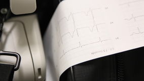 Cardiograph stock footage