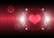 Cardiograph technology Royalty Free Stock Photos