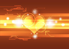 Cardiograph technology concept Royalty Free Stock Image