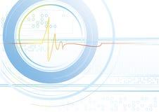 cardiolinelampa vektor illustrationer