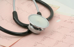 Free Cardiological Tests With Stethoscope Royalty Free Stock Photo - 1062165