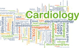 Cardiologie achtergrondconcept Stock Foto