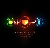 Cardiologie en wellness vector illustratie