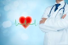 Cardiologist and healthcare concepts Stock Photos