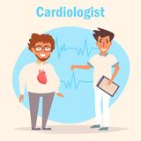 Cardiologist. Medicine Vector. Cartoon. Isolated art on white background Flat vector illustration