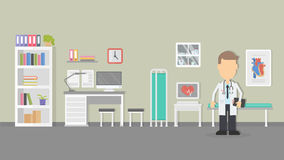 Cardiologist office interior Royalty Free Stock Images