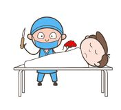 Cardiologist Showing Patient Die Due to Heart Failure Vector Concept. Design stock illustration