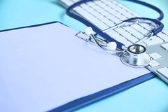 Free Cardiologist Stethoscope Paper Insurance Stock Photos - 122216203