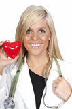 Cardiologue féminin Images libres de droits