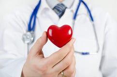 Cardiologue tenant le modèle du coeur 3D Photo stock