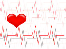Cardiology. Concept. Нeartbeat graph.Human heart Royalty Free Stock Images