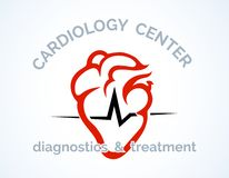 Cardiology Centre logo Royalty Free Stock Images