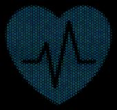 Cardiology Collage Icon of Halftone Circles. Halftone Cardiology composition icon of spheric bubbles in blue color tints on a black background. Vector circle Royalty Free Stock Photos