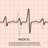 Cardiology concept with pulse rate diagram. Medical background with heart cardiogram. Cardiology concept with pulse rate diagram. Medical background with heart Royalty Free Stock Photos
