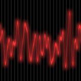 Cardiology equipment. Illustration of EKG test display Stock Image