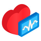 Cardiology heart 3d isometric icon Royalty Free Stock Photography