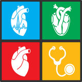 Cardiology. Heart doctor vector icon Royalty Free Stock Images