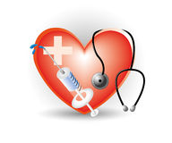 Cardiology heart icon Stock Image