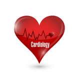 Cardiology heart sign illustration design Stock Image