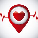 Cardiology icon Stock Images
