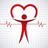 Cardiology icon. Design, vector illustration eps10 graphic Royalty Free Stock Image
