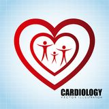 Cardiology icon Royalty Free Stock Images