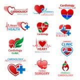 Cardiology medicine clinic vector heart icons vector illustration