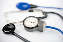 Cardiology. Pressure check up diagnosis pulse Royalty Free Stock Image
