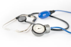 Cardiology. Pressure check up diagnosis pulse Royalty Free Stock Photography