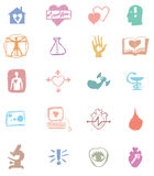 Cardiology. Vector set of logos Stock Image