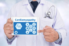Cardiomyopathy. Medical Concept: Black Chalkboard with . Medical Concept stock photo