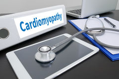 Cardiomyopathy. Medical Concept: Black Chalkboard with Cardiomyopathy. Medical Concept: Cardiomyopathy stock photos