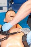 Cardiopulmonary resuscitation. Cardio pulmonary resuscitation  in ambulans Stock Photography