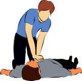 Cardiopulmonary resuscitation or  CPR Royalty Free Stock Image