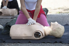 Cardiopulmonary resuscitation - CPR Royalty Free Stock Photo