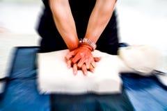 Cardiopulmonary resuscitation CPR training medical procedure. stock images