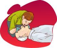 Cardiopulmonary resuscitation. Vector color illustration of Cardiopulmonary resuscitation Stock Photos