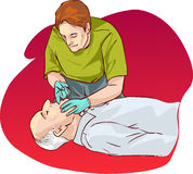 Cardiopulmonary resuscitation Stock Photo