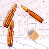 Cardiovascular disease in diabetics Royalty Free Stock Photos