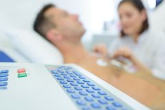 Cardiovascular examination on progress. Medical stock photo
