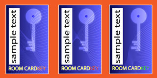 Cardkey do quarto Foto de Stock Royalty Free