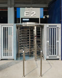 Cardkey revolving stadium entrance Stock Photo