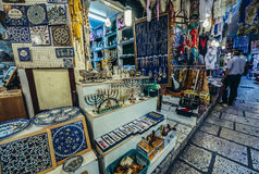 Cardo街在耶路撒冷 免版税库存照片